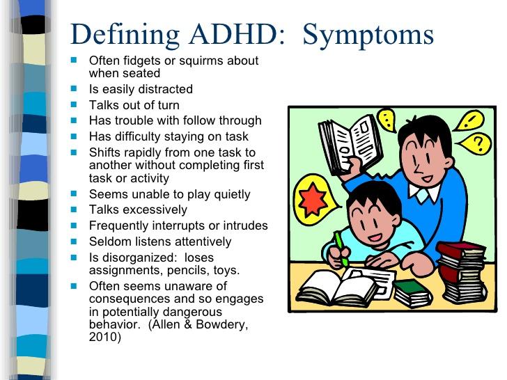 symptoms of adhd